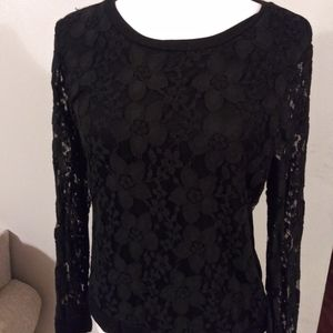 Adrianna Papell lace top New black small